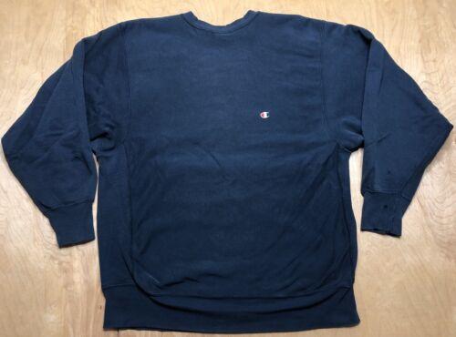 Vintage Champion Reverse Weave 80s Sweater Blue Gu