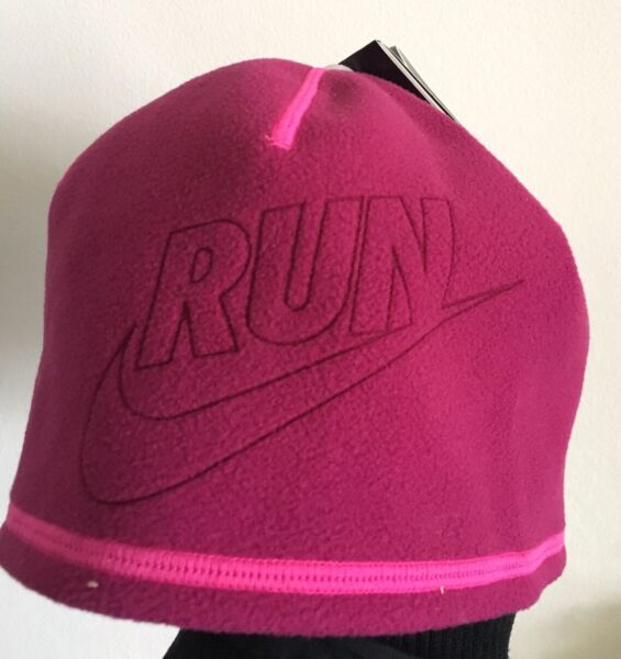 Nike Run Ladies Running Hat Reversible Pink Stay Warm Technology New Therma  Fit 72167edfe9d7