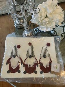 Pottery Barn Christmas Gnomes Pillow Cover New 12 X 16
