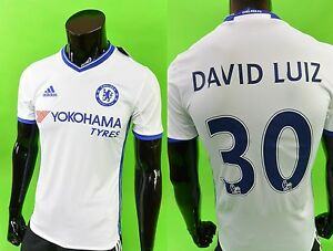 b1f75ecd9 2016-2017 adidas Chelsea FC Away Football Shirt DAVID LUIZ SIZE XS ...