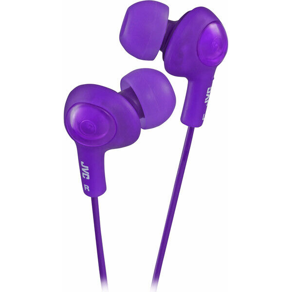 JVC Gumy Plus Violet Noise Isolation Stereo Earbuds in Factory Sealed Package