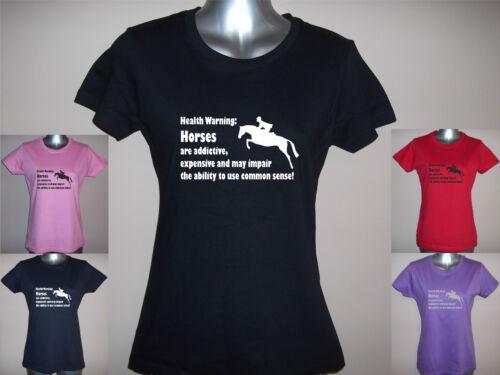 S impair common sense Ladies Horse T shirt HORSES Expensive XXL Addictive
