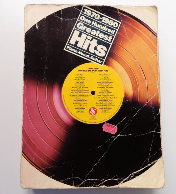 1970-1980 One Hundred Greatest Hits 1970s pop music book piano guitar 100 songs