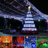 LED String Net Lights Christmas Xmax Party Garden Indoor/Outdoor Curtain Decor