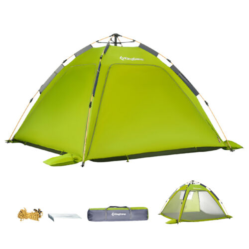 KingCamp Dome Tents 3-Persons Quick-Up Durable Outdoor Beach Tent Casual