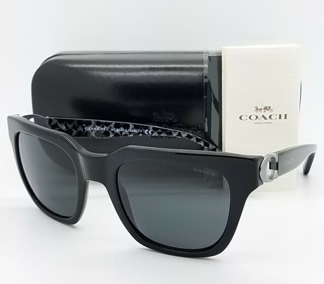 1d197c2044 New Coach sunglasses HC8240 551087 52 Black Grey Cateye Butterfly AUTHENTIC  8240