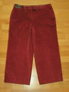next-Rust-cords-culottes-trousers-size-20-regular-leg-24-brand-new-tags