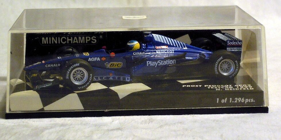 Minichamps 430990118  prost peugeot ap02 testCoche 1999,  15 n. heidfeld, nuevo