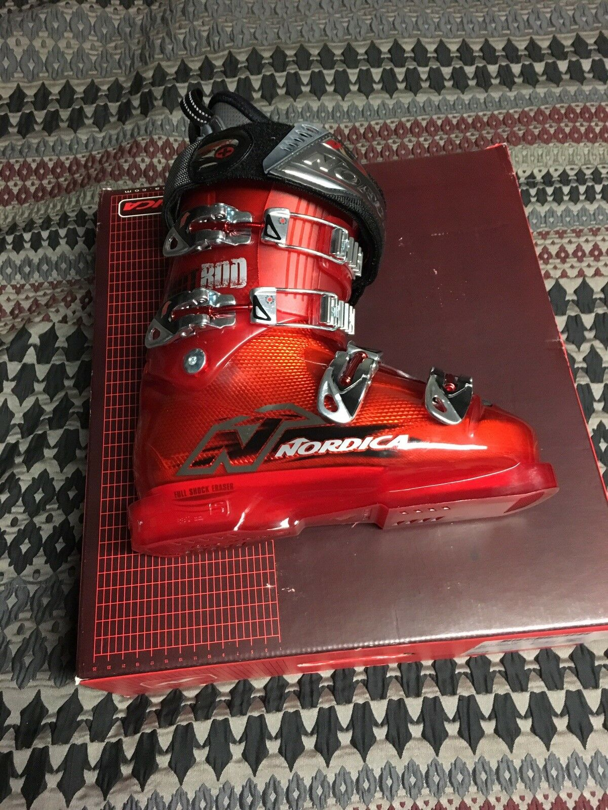 New Nordica Hot Rod Ski Boots Size 24.0 US 6.5 Shell 285mm