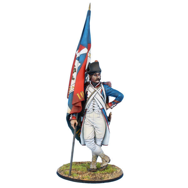 FL7502P Napoleonic French Revolutionary Std. Bearer - 109th Demi by First Legion