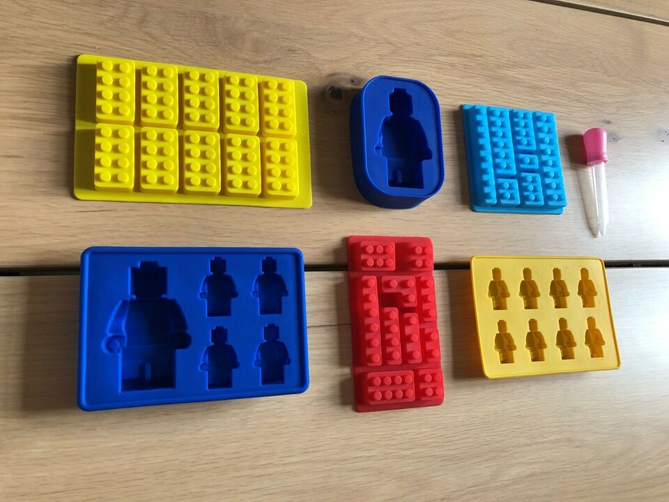 NYE forme med LEGO motiver (6 forskellige)