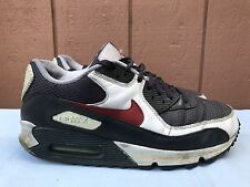 NIKE AIR MAX LOW TOP SHOES MENS US 9.5 EUR 43 GRAY RED WHITE 325018-025