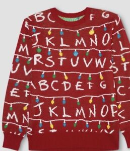 Details about F7 Mens Stranger Things Light Up Christmas Ugly Sweater Sweatshirt XXL New Red