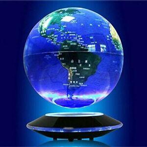 """NEW 6"""" LED Magnetic Levitation Floating Globe Anti Gravity Rotating World Map US"""