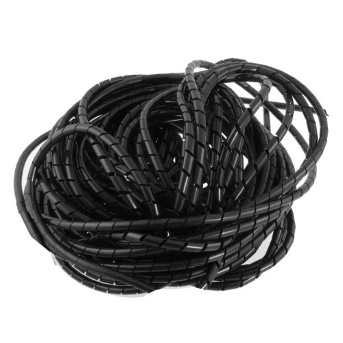 20mm Dia 8.2ft 2.5M Spiral Cable Wire Wrap Tube Computer Manage Cord BOT