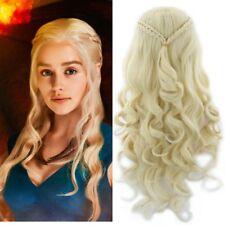 Cosplay Costume Wig for Game of Thrones Daenerys Targaryen Fancy Dress Costume  sc 1 st  eBay & Daenerys Targaryen Khaleesi Game of Thrones Fancy Dress Costume ...