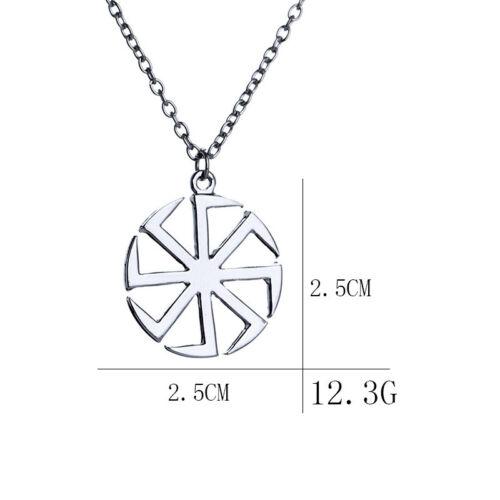 Pendentif Kolovrat Slave Symbole du Soleil Amulette Viking Païen