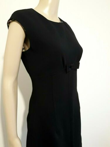 TED BAKER ZEEVAD BLACK BOW TAILORED PENCIL DRESS UK 12 TED 3 USA 8 BNWT RRP £160