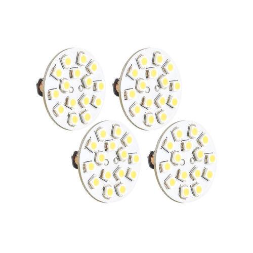 12V 15 SMD LEDs ww Stiftsockel LED: LED-Stiftsockellampe G4 horizontal 4er