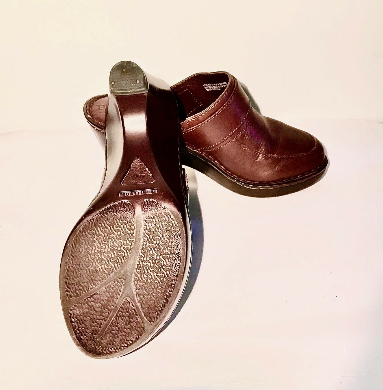 Born Leather Brown Sandals w/buckles Size 7/38 Wa… - image 4