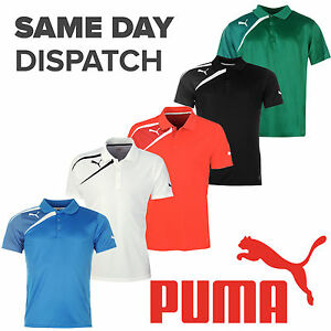 Puma-Team-Wear-Spirit-Polo-Mens-Training-Fashion-Casual-Football-T-shirts