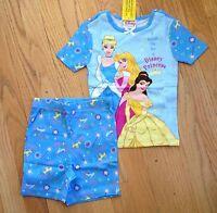 Disney Princess Pajamas Set Girls Size 4 W/ Cinderella, Belle, Aurora