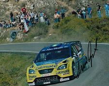 Marcus Gronholm mano firmado Bp Ford Rally Mundial Foto De Equipo 10x8 3.