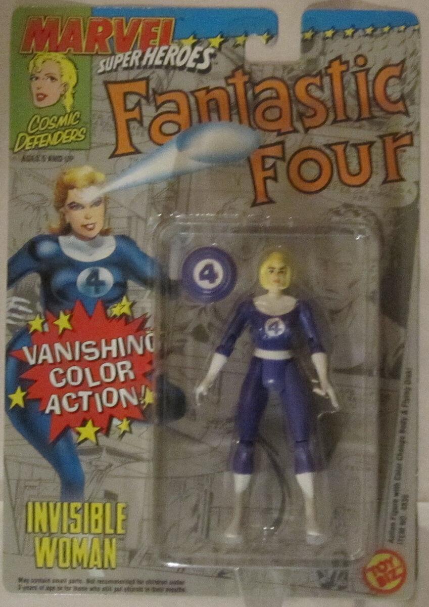Acción de fuga de Color Mujer Invisible cuatro fantásticos JugueteBiz 1992 Moc VHTF RARE