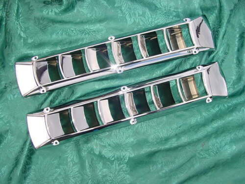 BOAT VENT BILGE CHROME LOUVER MARINE SEA RAY SEARAY NEW SAVE ON  THE PAIR!!