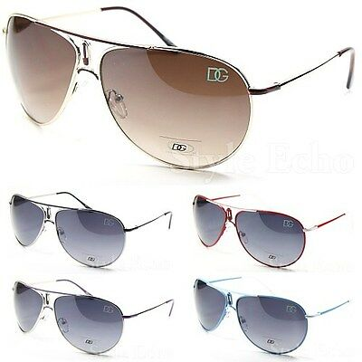 Classic Metal Aviator Womens Designer Sunglasses Logo on Lens Edge New
