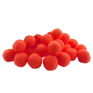 100 Pcs 18mm Red Craft Decoration Pom Poms DIY Accessories Pom Poms Fluffy