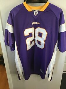 best website 4d9eb 786dd Details about Adrian Peterson Minnesota Vikings Reebok Jersey Size 54 EUC  Purple NFL
