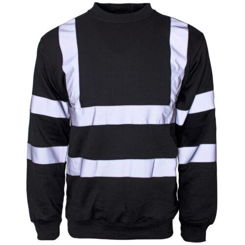 Men/'s Hi Vis Visibility Work Jackets Polo Shirts Hoodies Zipper Jumpers T shirts