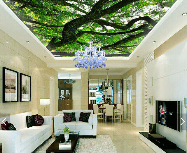 3D greene Bäume Zweige 54 Fototapeten Wandbild Fototapete BildTapete DE Kyra