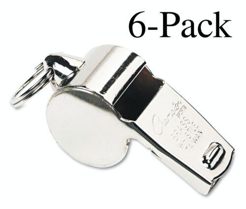 Pack de 6 Champion Sports poids lourd laiton Sifflet avec anneau métallique