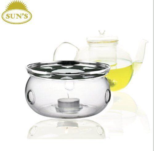 Ultra Clear Borosilicate Glass Teapot Warmer Clear Free S Sun/'s Tea Tm New