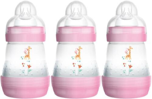 MAM Easy Start bouteille 160 ml 3 Pack-rose bébé alimentation lait Entièrement neuf sous emballage