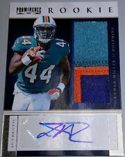 2012 12 LAMAR MILLER PANINI PROMINENCE 3 COL PATCH JERSEY ROOKIE RC AUTO # / 90