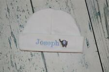 PERSONALIZED BABY HAT Monogram Elephant Infant Beanie Cap with name