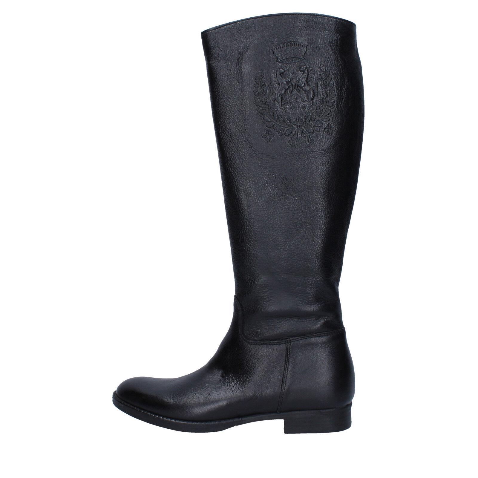 Scarpe donna TREND 36 EU stivali nero pelle AJ223-36