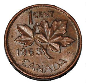 UNC 1963 Canada 1¢ Penny