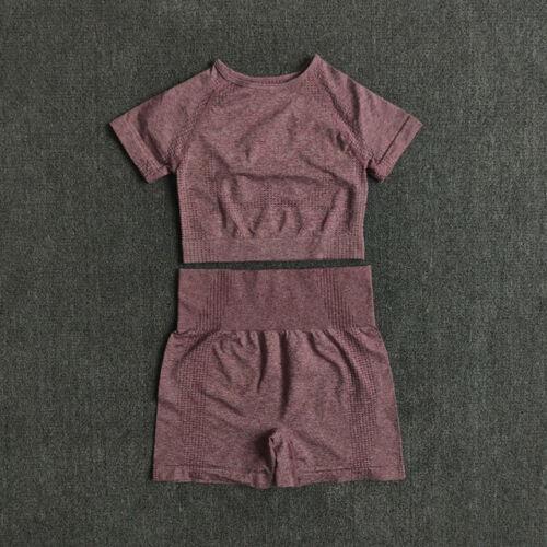 2//3//5PCS Seamless Women Yoga Set Workout Sportswear Gym Clothing Sports Suits