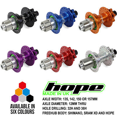 All Colors Spoke Holes and Drivers Hope Pro 4 Rear Hub 157x12mm Thru New