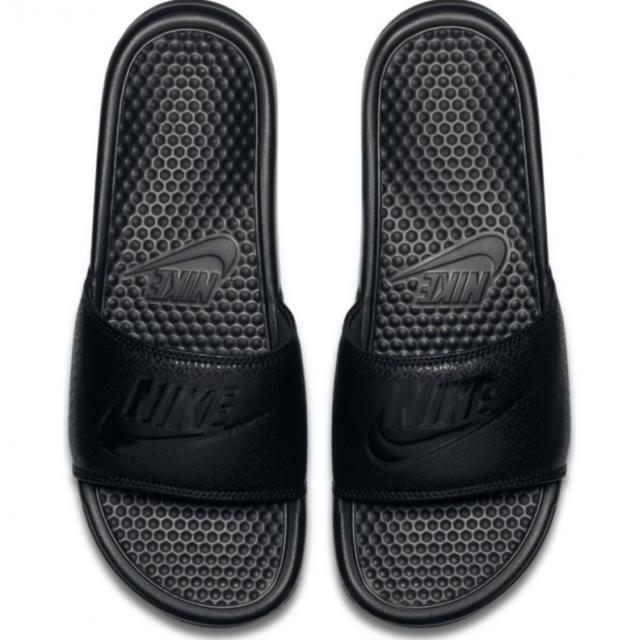 timeless design 566dd 6185b Mens NIKE Benassi JDI Slide Sandals Sliders Flip Flops Slippers Black  UK7-UK11
