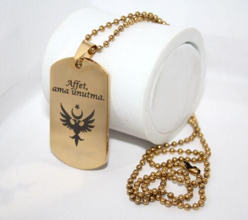 bala cadena de acero inoxidable con grabado según preferencias remolque ID masivamente Dog Tag en oro