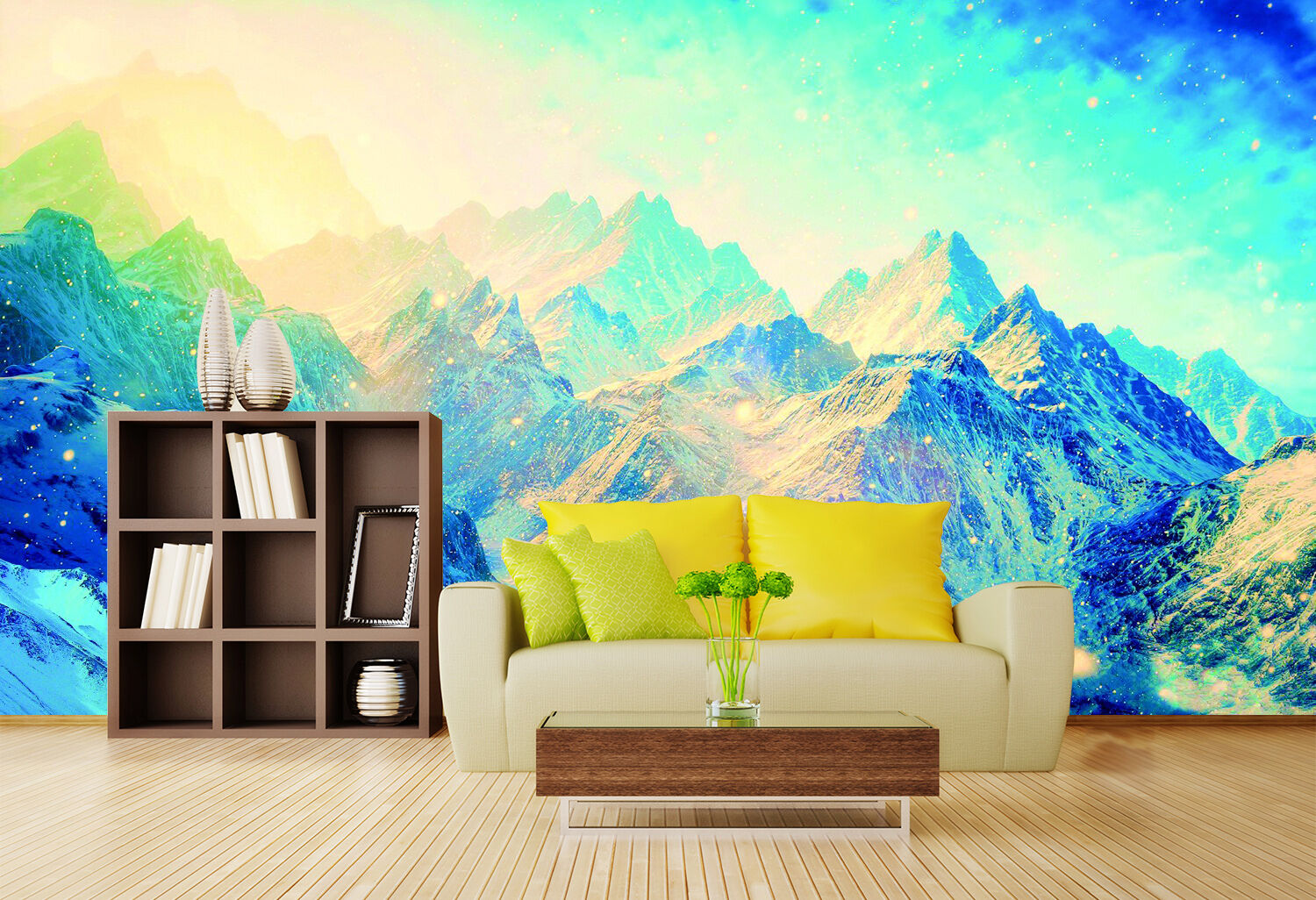 3D Snow Mountain sunlight Wall Paper Print Decal Wall Deco Indoor wall Mural