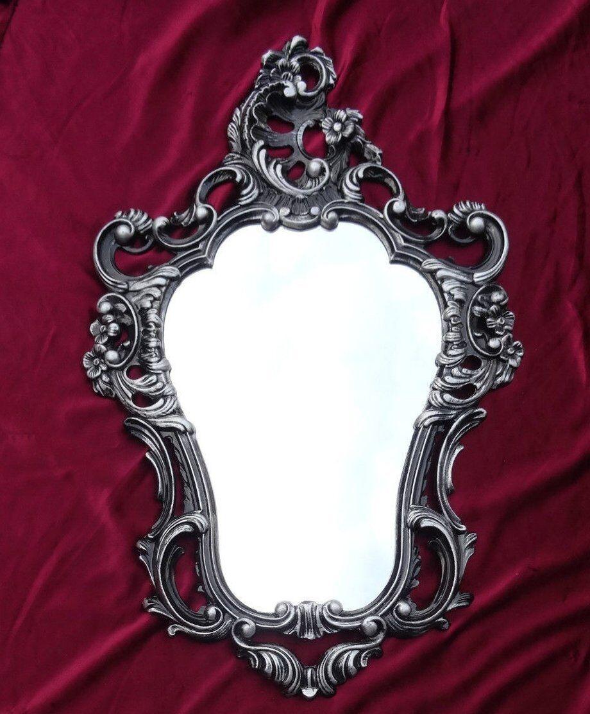 Espejos Espejo Barroco De Pared Antiguo Reproducción Negro Blanco Dualcolor 50x76