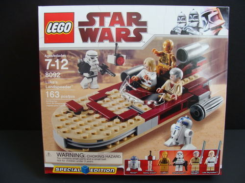 New LEGO STAR WARS Luke's Landspeeder 8092 Vehicle Security Droids Obi-Wan NIB
