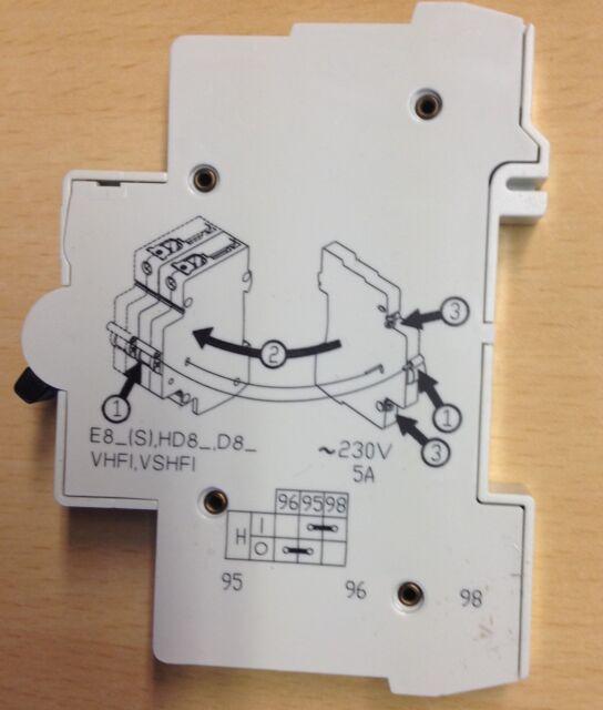 AEG Hilfsschalter H für E80 S 0,5...63A Leitungsschutzschalter Zusatzschalter