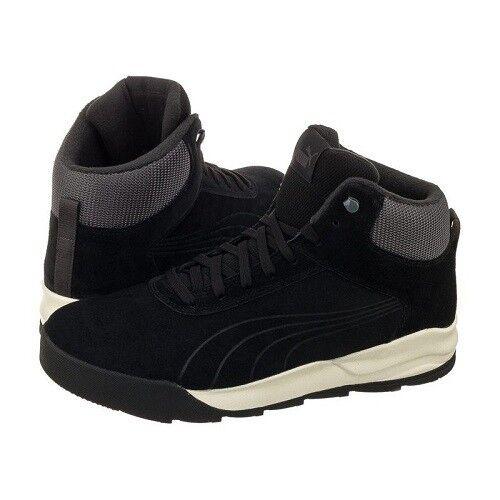 Men's Puma Desierto Sneaker 361220 04 Black/Whisper White Brand New In Box